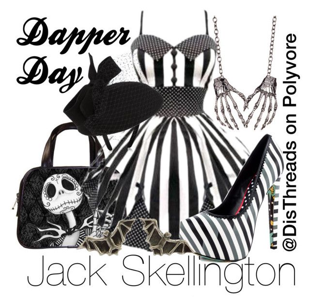 """""""Jack Skellington Dapper Day Disneybound by DisThreads"""" by disthreads on Polyvore featuring Hell Bunny, Accessorize, TaylorSays, Meghan Fabulous and Rachel Entwistle"""