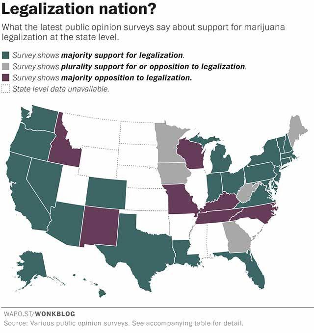 Us Cannabis Map Globalinterco - Us states pot map