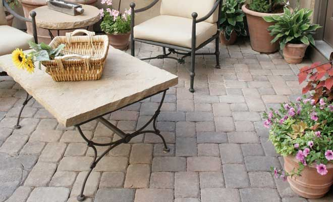 Plaza Stone Rectangle 45mm | | Pavestone | Idéias de ... on Rectangle Patio Ideas id=46547