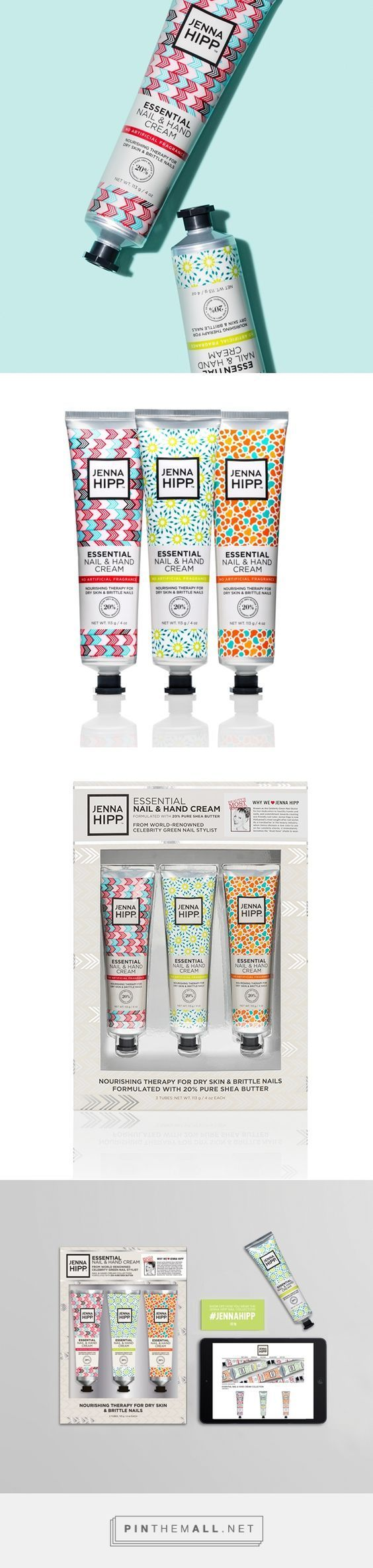 Jenna Hipp Hand and Nail Cream Packaging by Kasey Dasko | Fivestar Branding Agency – Design and Branding Agency & Curated Inspiration Gallery