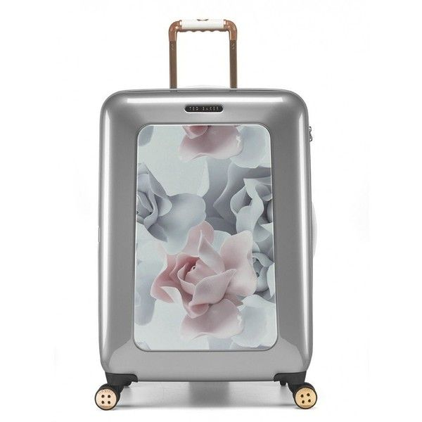 Amazon.com | Ted Baker Porcelain Rose 4 Wheeled Luggage (MEDIUM) |... ($448) ❤ liked on Polyvore featuring bags and luggage