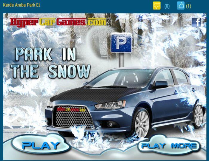 karda araba park et - park etme oyunları - araba oyunlarım io