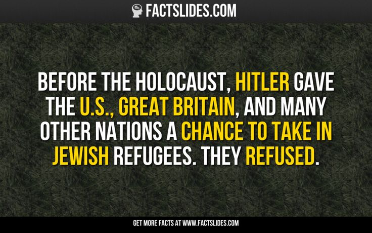 Before the Holocaust, Hitler gave the U.S., Great Britain, and many other nations a chance to take in Jewish refugees. They refused.