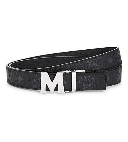 MCM Claus Reversible Saffiano Leather Belt. #mcm #belts