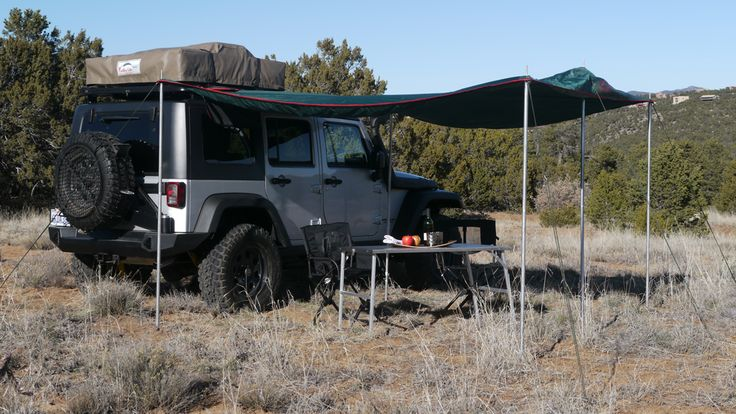 FRONT RUNNER OUTFITTERS FOLDABLE AWNING - Grey w/ Red trim     www.PureFJCruiser.com