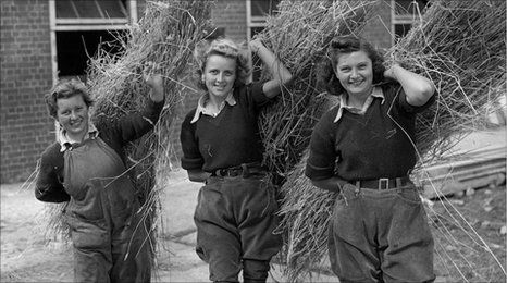Many of the Land Girls left their homes to work the land and feed the nation during wartime shortages and rationing. The members of the Women's Food and Farming Union (WFU) are campaigning to have their efforts recognized. The WFU wants to build a memorial garden at the National Memorial Arboretum in Staffordshire to honor the WLA.