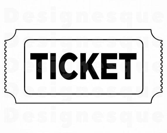 Ticket Outline Svg Ticket Svg Raffle Svg Prize Svg Party Etsy Svg Clip Art Raffle