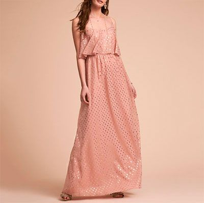 BHLDN Paris Dress - pink maxi dress, blush maxi dress