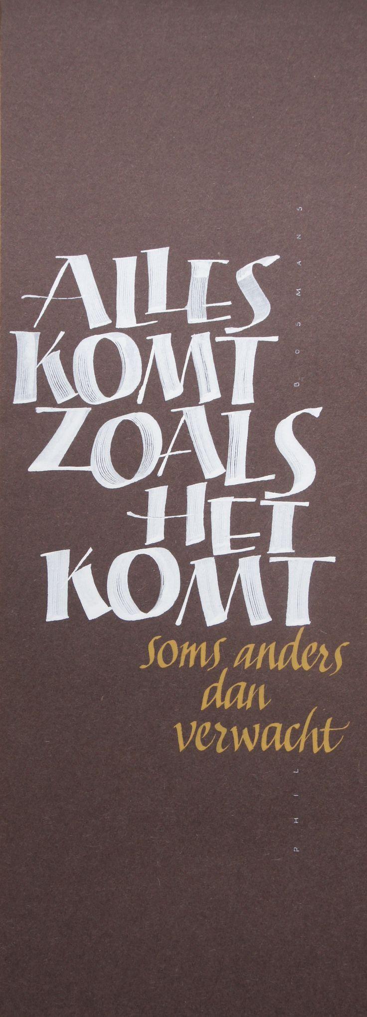 """""""Alles komt zoals het komt"""" - André Ooms 2015"""
