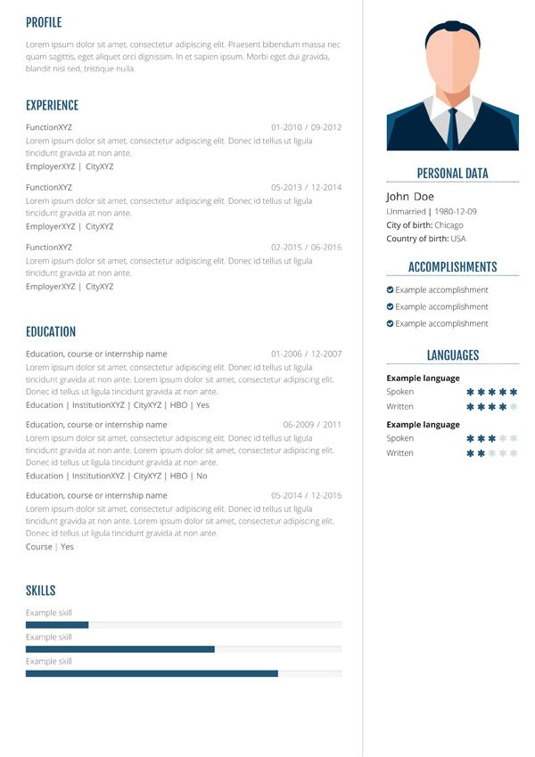 With our online resume maken you can create a professional and unique resume in 3 steps. Enter your details, pick and tweak a layout & download the result.