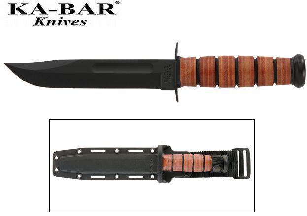 KA-BAR - USMC Plain Edge Knife with Hard Plastic Sheath 5017 NEW #KaBar