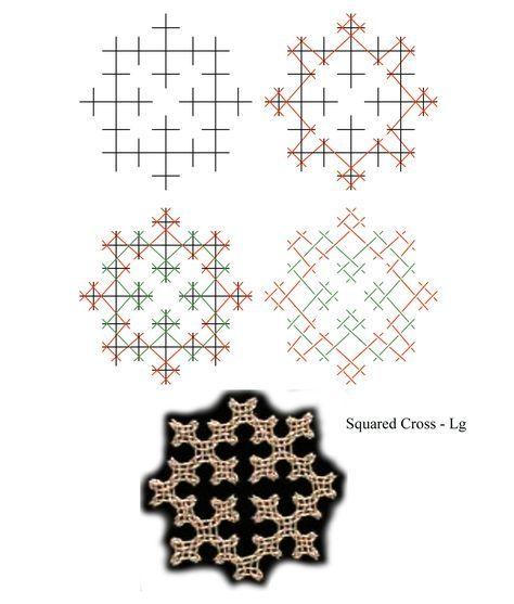 Squared Cross - Lg - Lattice Diagram