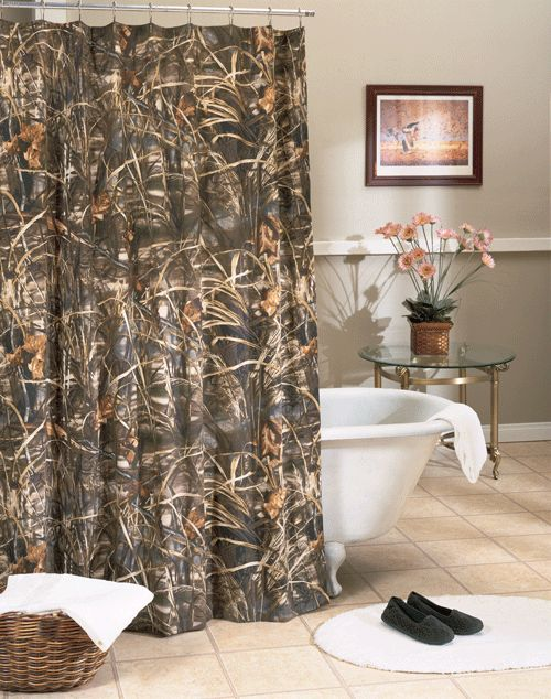 The Boyfriend Would Love This Camo Shower Curtain