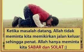 Sabar & Solat
