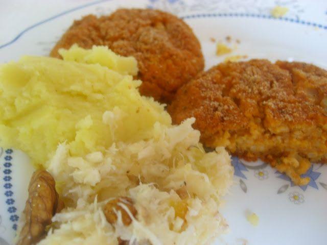 Fittanyuka: Paprikás köles fasírt - Almás torma salátával