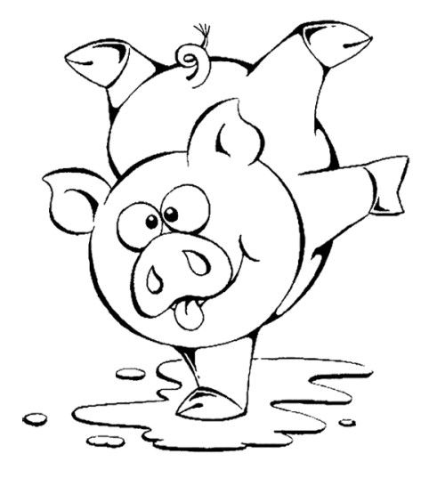 Cute pigs coloring pages
