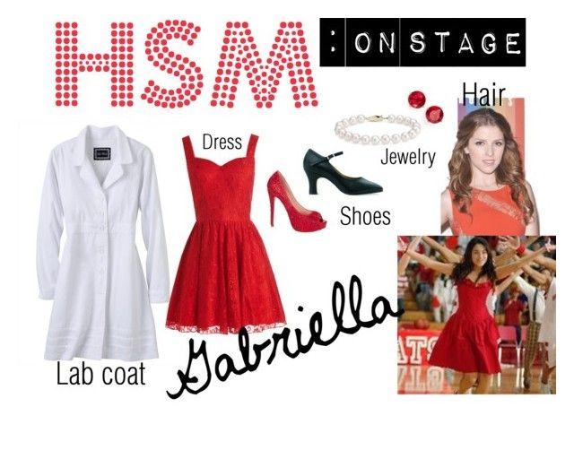 """high school musical: on stage (Gabriella)"" by wendydisneydarling on Polyvore"