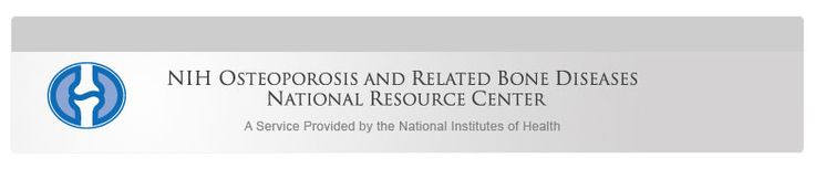 NIH Osteoporosis and Related Bone Diseases ~ National Resource Center (joint pain) (wt mgmt, nsaids)