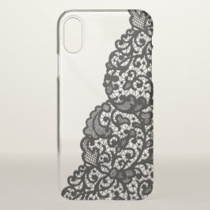 Romantic Black Lace iPhone X Case - chic design idea diy elegant beautiful stylish modern exclusive trendy
