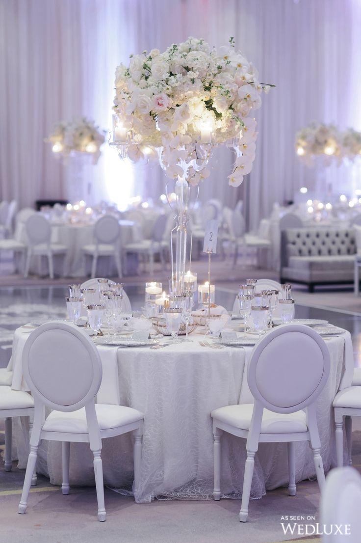 Wedding decor all white   best modern images on Pinterest  Wedding decor Wedding tables