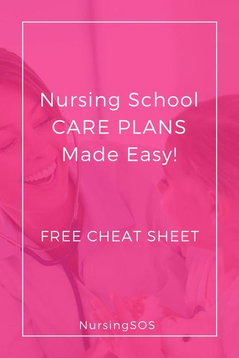 Nursing School CARE PLANS Made Easy! Click through for 3 nursing - care plan