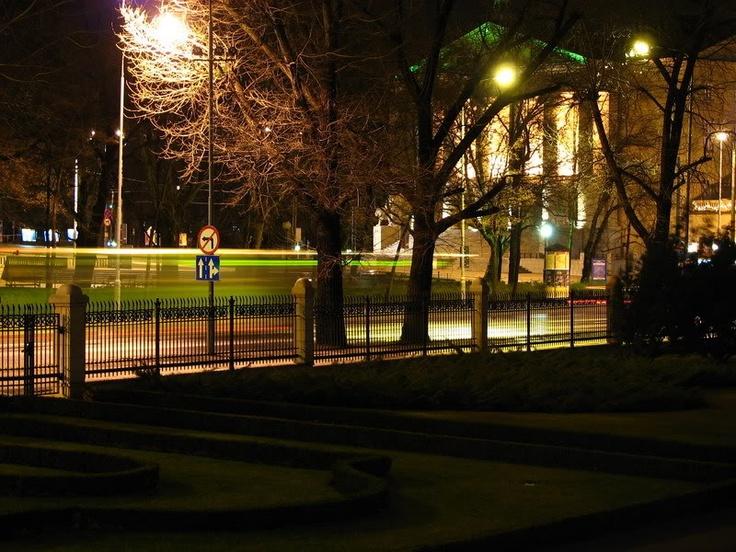 Poznan, Poland by night