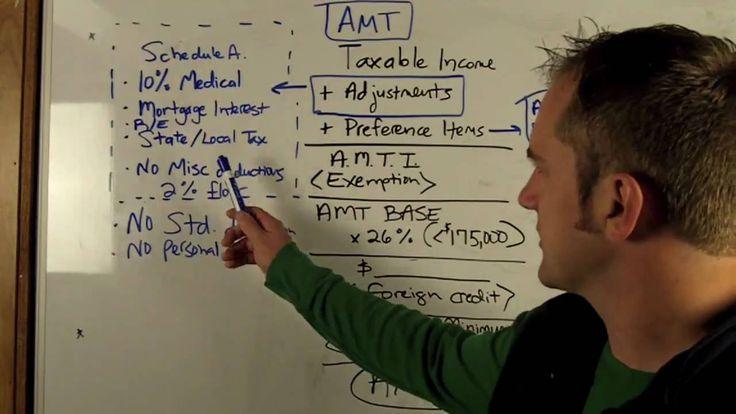 AMT - Alternative Minimum Tax - CPA Exam Review (REG) - YouTube