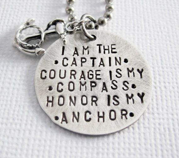 Anchor Necklace Rustic My Captain Compass by PatriciaAnnJewelry, $47.50