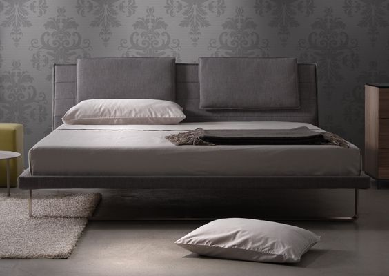 Envy Bed with Headboard Pillows option
