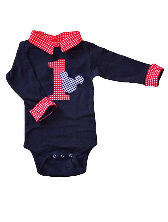 Baby Boy First Birthday Outfit Mickey Mouse by BrimmerBaby on Etsy