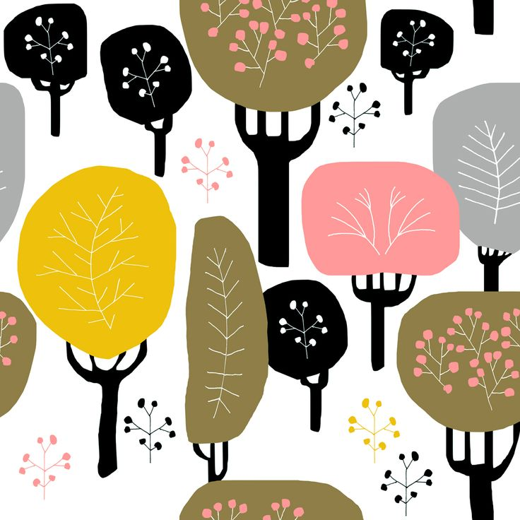 "Jenna Kunnas, ""Fall"" pattern illustration, Personal work, 2017"