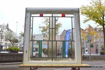 Glas in lood raam jaren 30 2 stuks aanwezig nr 60