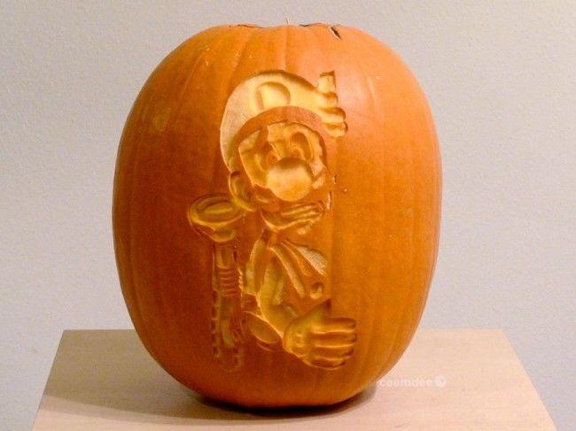 1167 Elképesztő és kreatív Halloween tökök a videojátékok szerelmeseinek