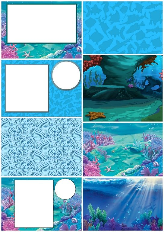 Under the Sea: Free Printable Invitations.