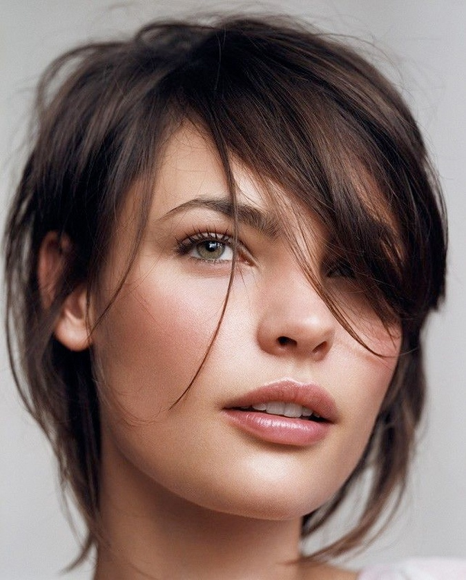 cut.: Natural Makeup, Long Bangs, New Hair, Fine Hair, Shorts Haircuts, Hair Makeup, Hair Style, Hair Color, Shorts Cut