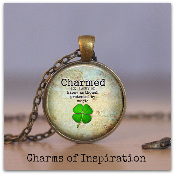 "Four 4 leaf clover necklace Charmed Boho Pendant Necklace Boho Jewelry Irish necklace St Patricks Day 1.25"" pendant 175"