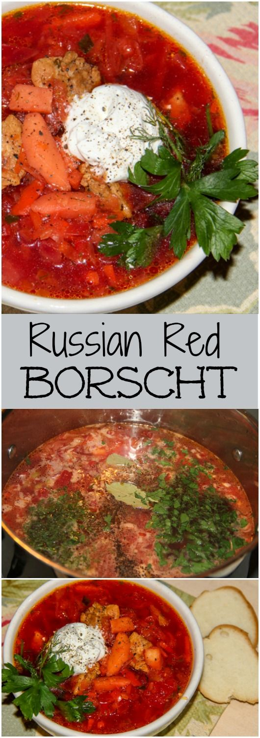 Russian Red Borscht Recipe. ValentinasCorner.com
