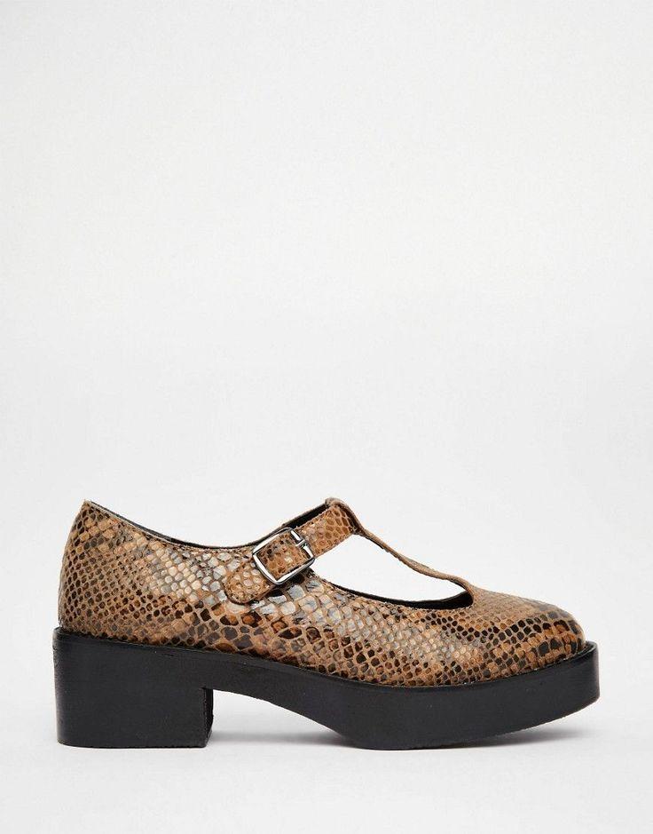 Изображение 2 из Замшевые туфли с Т-образным ремешком на платформе Park Lane