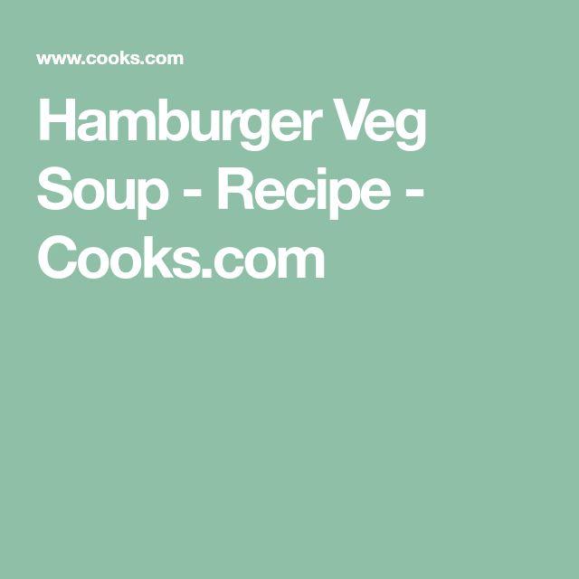 Hamburger Veg Soup - Recipe - Cooks.com