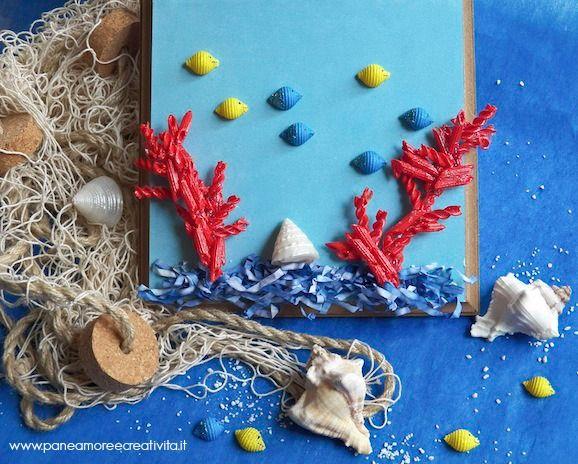 Lavoretti per l'estate: pesci e coralli di pasta Barilla