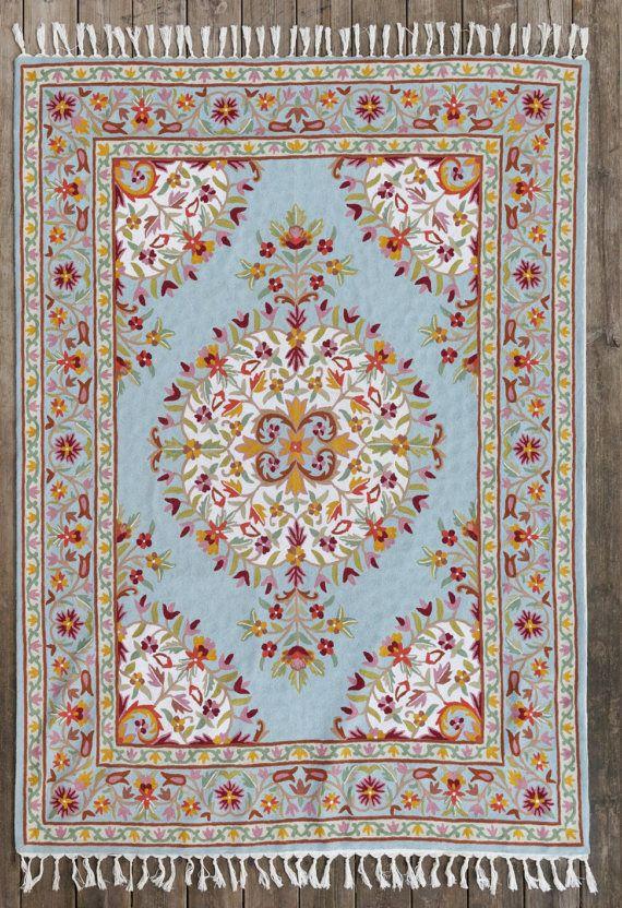 6x9 area rug floral area rugsturquoise area rug 5X7 area