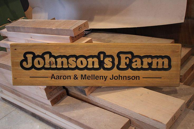 1000mm x 200mm Pine custom wooden sign