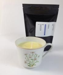 Teacup Candle. Mango Infused.116  I am hand made with 100% SOY wax. My cup has been recycled / re-used / re-loved / re-newed / TEA-incarnated as a beautiful tea cup candle infused just for you. Included with me is a 50g bag of Tea