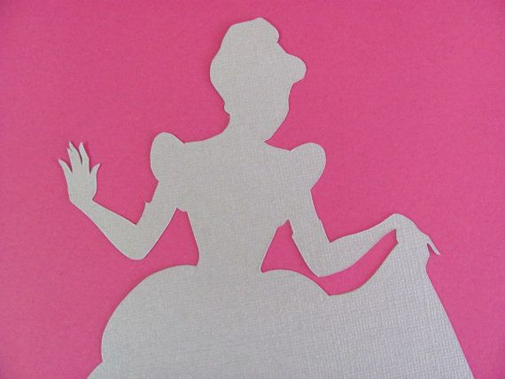 Disney inspired Princess Cinderella silhouette for a nursery or little girl's room, Paper Art