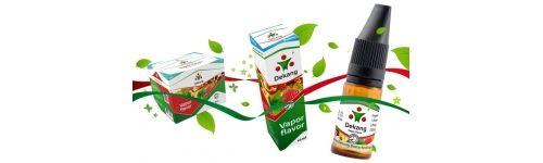 E-Liquid de la marca Dekang, una de las mas distinguidas del mercado. Podras encontrar desde tabaco negro, a sabores frutales y tabaco rubio americano sobradamente conocido por nuestros clientes. Una de las 3 marcas que copan el mercado de e-liquidos, si estas indeciso esta es tu eleccion.