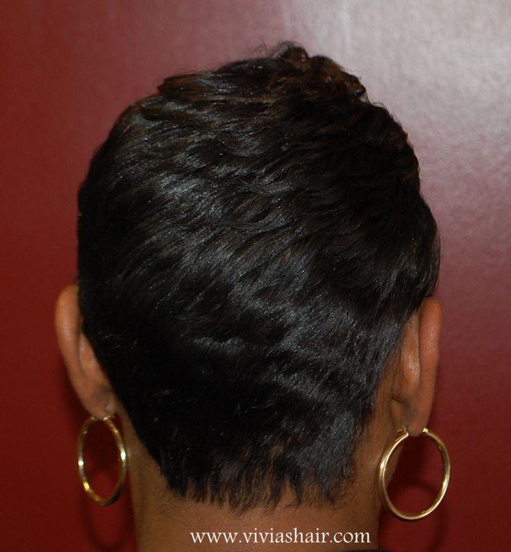 Short Hair Style For Black Women Hair Salon Beauty Salon