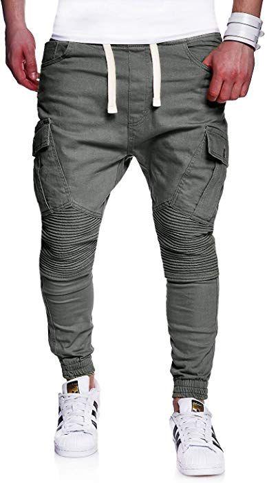 2068267f442983 MT Styles Biker Jogg-Jeans Chino Hose RJ-2276 [Dunkelgrau, W30]: Amazon.de:  Bekleidung
