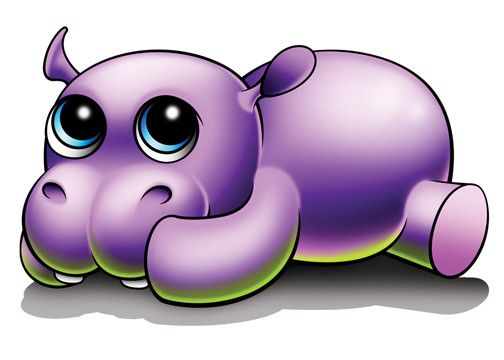 Hippo - Zootoos Temporary Tattoo