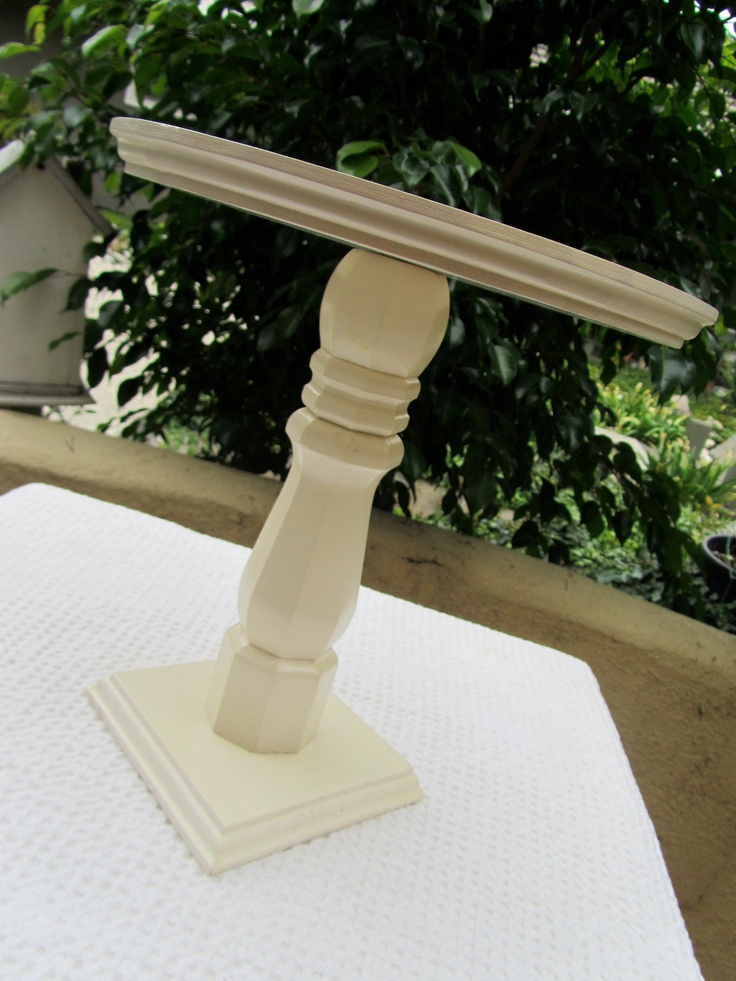 """10"""" Cake Pedestal Stand in Heritage White - Shabby Chic Rustic Plate. $48.00, via Etsy."""