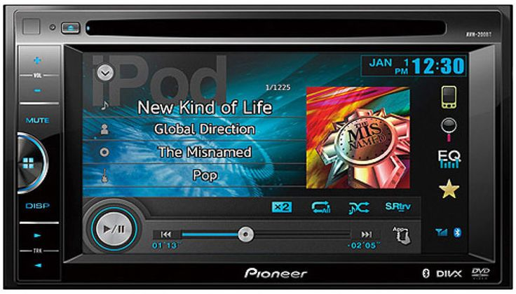 PIONEER AVH-200BT DOUBLE DIN DVD BLUETOOTH USB IPOD CAR STEREO RECEIVER RADIO